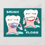 Brush and Floss Postcard