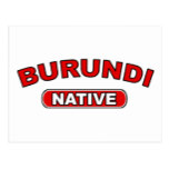 Burundi Native Postcard