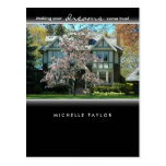 Cherry Blossom Tree Real Estate House Postcard 2