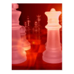Chess Play Postcard