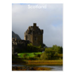 Eileen Donan Castle in Early Autumn Postcard