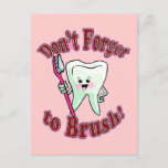 Funny Dental Hygienist Postcard