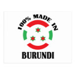 Made In Burundi Postcard
