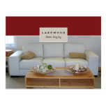 Real Estate Home Staging Postcard Sofa