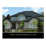 Real Estate Postcards Beige Stucco House