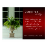 Real Estate Postcards Green Fern House Red Black