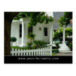 Real Estate Postcards White Green House
