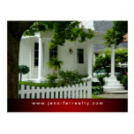Real Estate Postcards White Green House Red Ftr