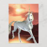 Regal Unicorn Postcard