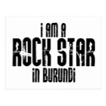 Rock Star In Burundi Postcard