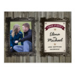 Rustic Picture Frames Photo Wedding Save the Date Postcard