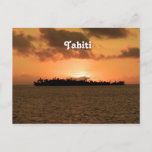 Tahiti Sunset Postcard