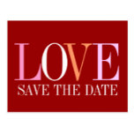The Word is Love Save the Date Postcard