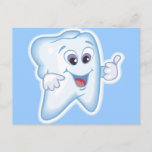 Thumbs up for dental hygiene! postcard