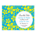 Tropical Flowers Save the Date Postcard