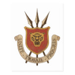 Vintage Burundi Coat Of Arms Postcard