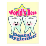 Worlds Best Hygienist Postcard